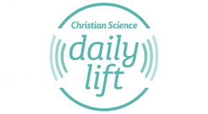 Christian Science Daily Lift logo, short inspiring ideas or thought for the day